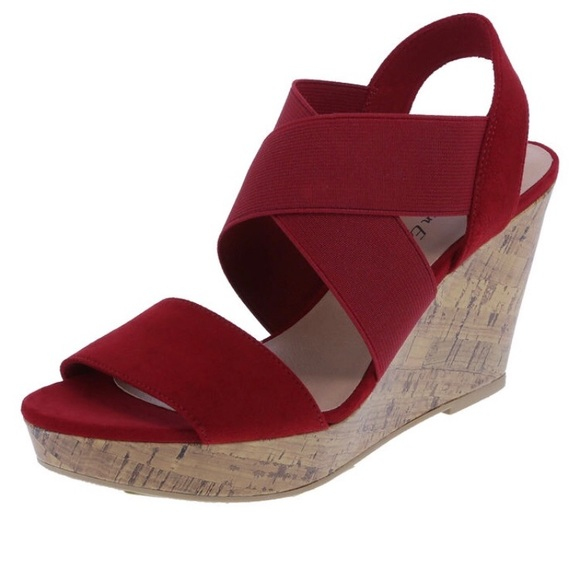 42e757aeb680 American Eagle By Payless Shoes - Red High Wedge